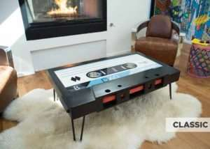 Cassette Tape Coffee Table Hits Kickstarter (video)