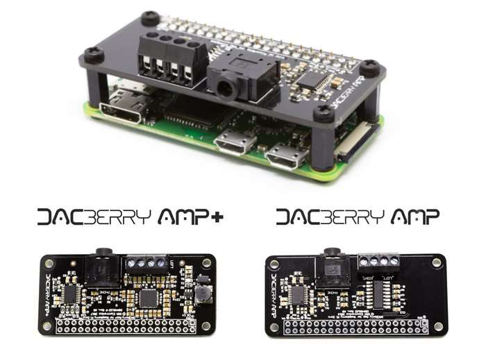 DACBerry Raspberry Pi Analog Soundcard And Amplifier