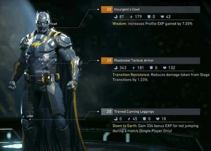 Injustice 2 Character Customisation