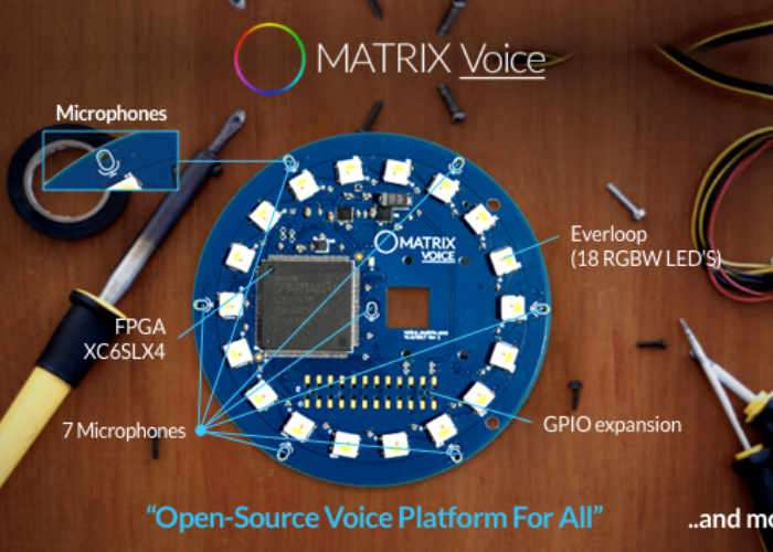 Matrix Voice Open Source Voice Recognition Platform (video)