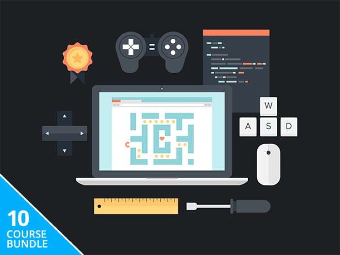 Here is what is included in the bundle: Build iPad, iPhone & OS X Games for SpriteKit in Swift Game Developer Business & Legal Guide: Run an Indie Studio iOS & OS X Game Development: From Start to Store in Swift 2048: Build Your First Complete Game with C# & Unity Master Unity By Building 6 Fully-Featured Games from Scratch The Complete HTML5 Mobile Game Development Course Learn to Code in Game Maker Language The Complete Android Marshmallow Development Course Game Development Using Corona SDK with ASO & Ads JavaScript Programming: Learn by Making a Mobile Game