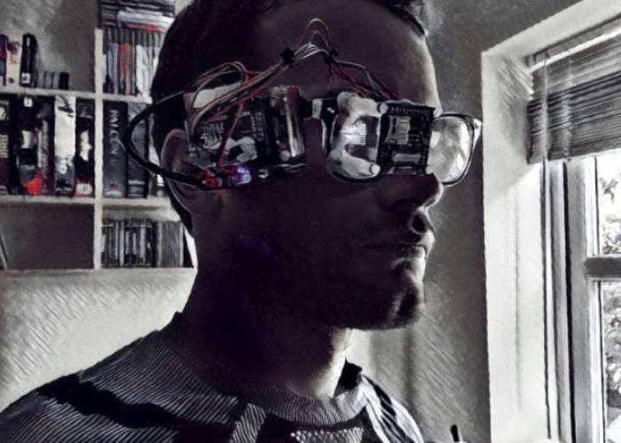 PiGlass Raspberry Pi Environmental Monitoring Glasses