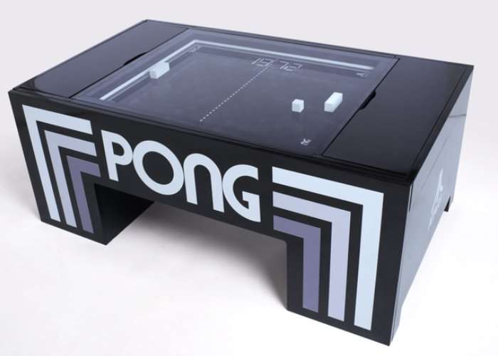 Play Atari PONG in your Coffee Table