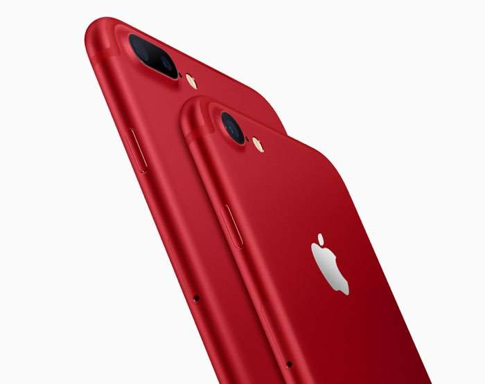 Product Red iPhone 7 And iPhone 7 Plus