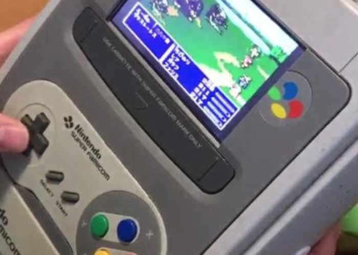 SNES Portable Hybrid DIY Handheld