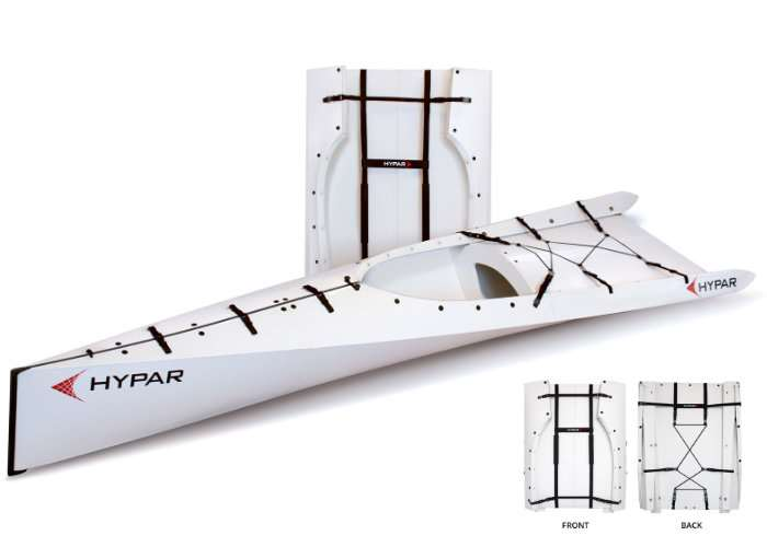 Unique HYPAR Lightweight Folding Kayak