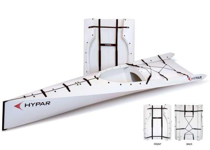 Unique HYPAR Lightweight Folding Kayak