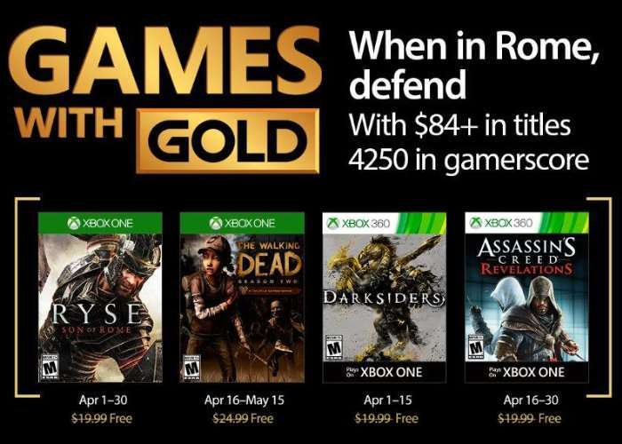 Xbox Live Games For April 2017