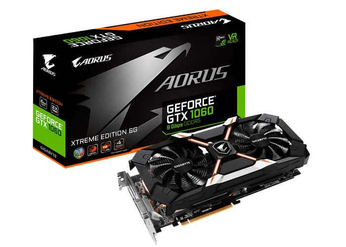 Aorus GeForce GTX 1060 6GB Xtreme Edition Graphics Card