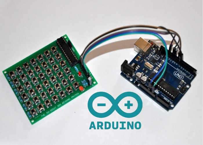 Arduino Compatible 42-Digit SPI Keypad Matrix