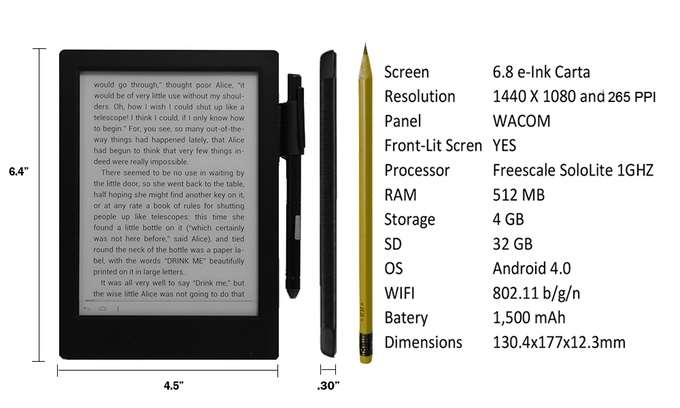 Good e-Reader 6.8 Inch Android e-Reader