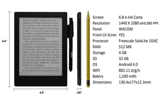 Good e-Reader 6.8 Inch Android e-Reader