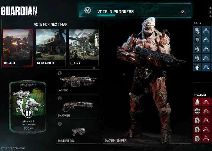 Gears of War 4 Versus players