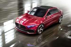 Mercedes Concept A Sedan Unveiled At The Shanghai Auto Show
