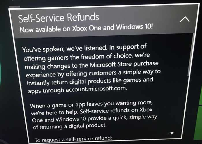 Microsoft Launching Self-Service Refund System