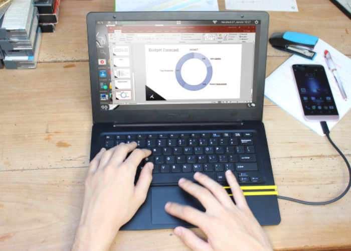 Mirabook Smartphone Laptop