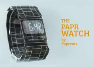 PAPR Watch, So Light You Would Thin It Was Made Of Paper (video)