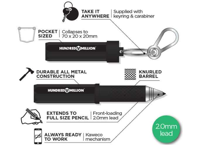 The Pencilest Compact Mechanical Pencil