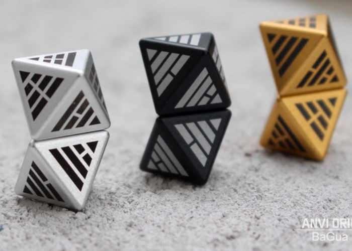 Unique BaGua Metal Binary Dice
