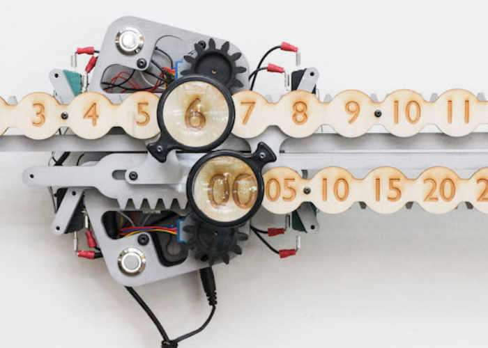 Unique Linear Geared Timepiece Powered By Arduino