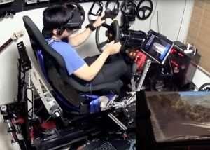 $25,000 Virtual Reality Racing Rig (video)