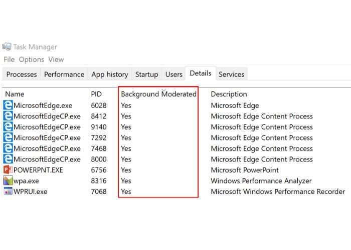 Windows 10 Insider Preview Power Throttling