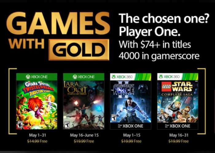 Xbox Live Games With Gold For May 2017