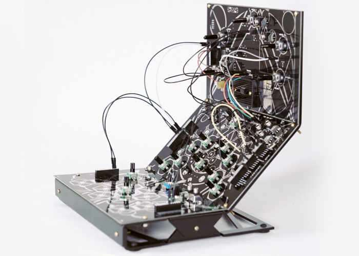 eurorack-compatible 3 tier synthesis system.