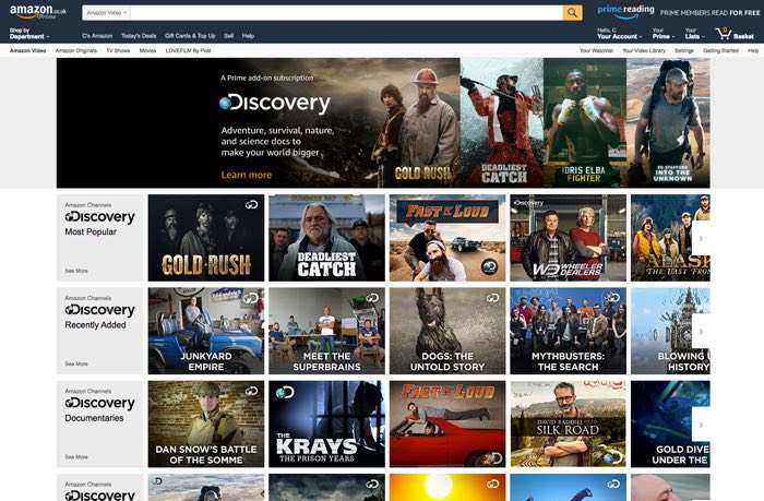 Amazon Channels Launches in U.K. With Discovery, NBCU, ITV Content