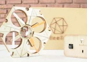 BEEBOT Wooden Puzzle Drone Hits Kickstarter (video)