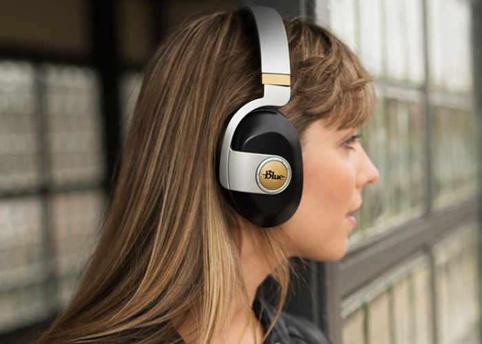 Blue Satellite Wireless Headphones