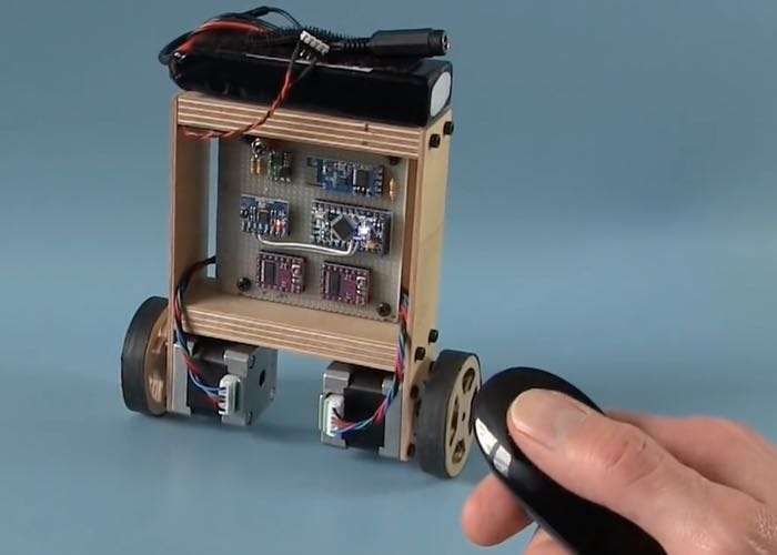 Diy arduino self balancing robot video geeky gadgets