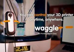 Waggle Easily Adds Wireless Control And Monitoring To Your 3D Printer (video)