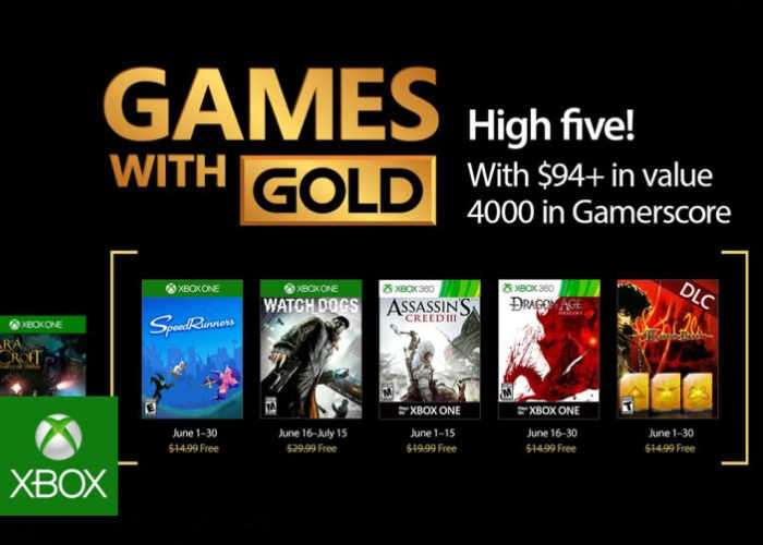 Free Xbox Gold Game For June 2017
