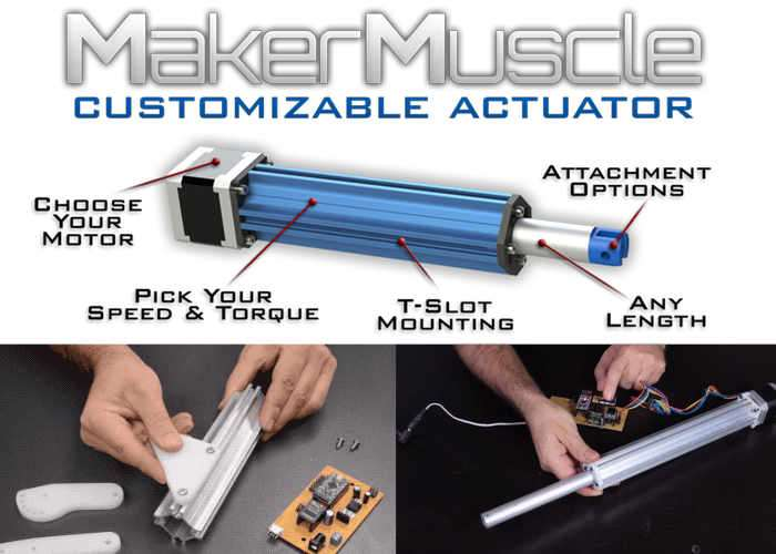 Maker Muscle Customisable Actuator Designed For Makers And Robotics From $22 (video)