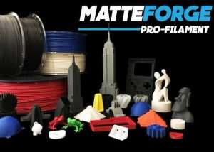 MatteForge 3D Print Filament Offers Unique Matte Finish, Flex And High Impact Resistance (video)