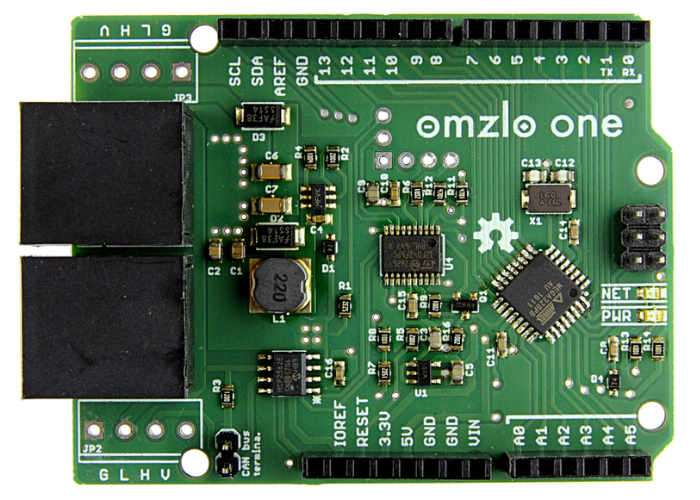 Omzlo one arduino board with built in rj networking