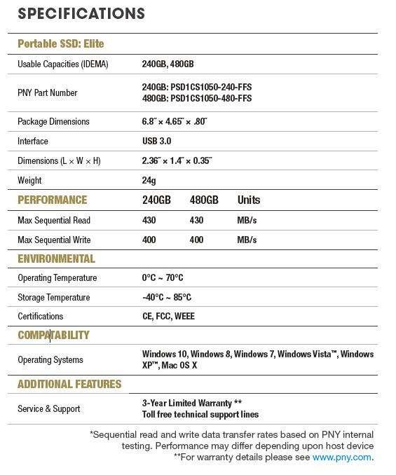 PNY Elite Portable SSD