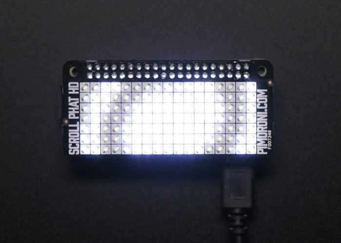 Raspberry Pi Zero Pimoroni Scroll pHAT HD LED Matrix