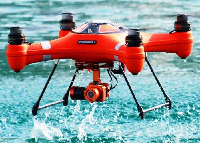 Splash Drone 3 Fully Floating Waterproof Drone (video)