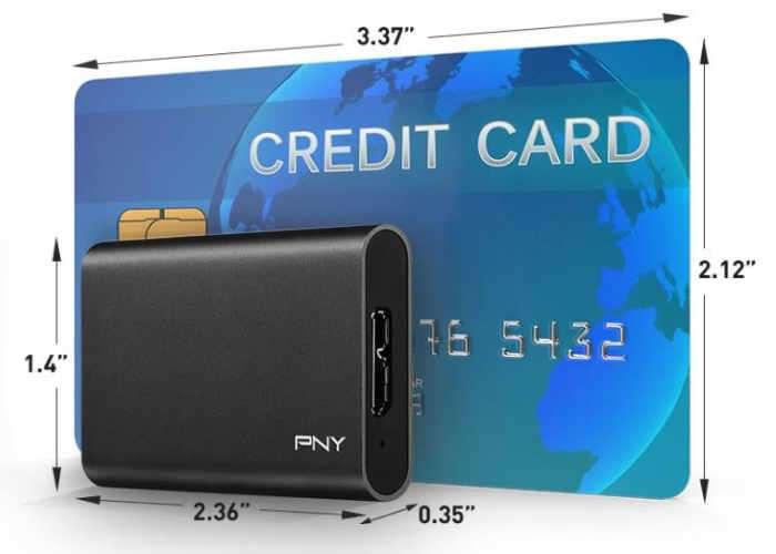 Tiny PNY ELITE Portable SSD
