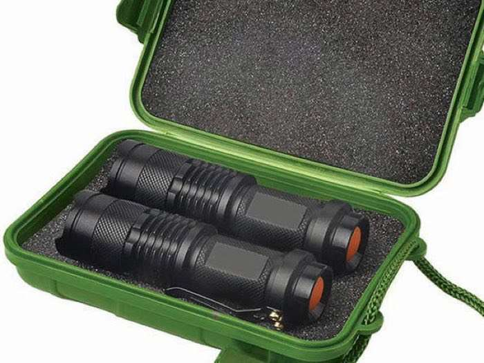 UltraBright 500-Lumen Tactical Military Flashlight 2-Pack