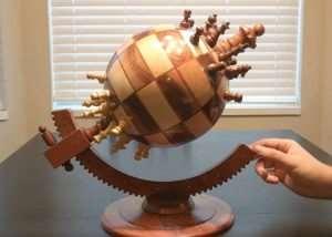 Unique 360 Globe Chess Board (video)