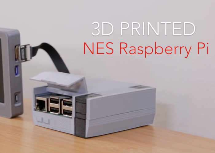 3D Printed Screwless NES Raspberry Pi Games Console