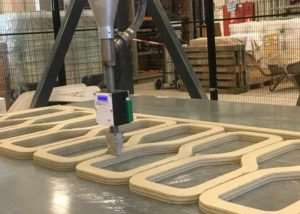 3D Printed Reinforced Concrete Bridge Being Created
