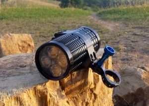 Fire Cannon Portable 2,400 Lumen Flashlight (video)