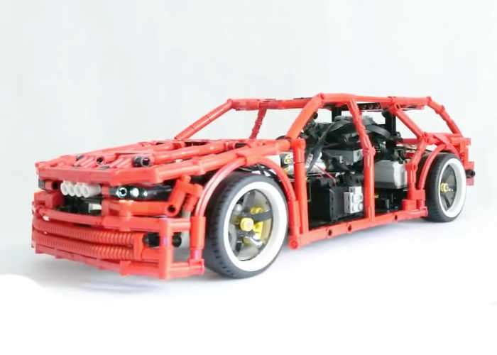 lego technic drift wagon video geeky gadgets. Black Bedroom Furniture Sets. Home Design Ideas