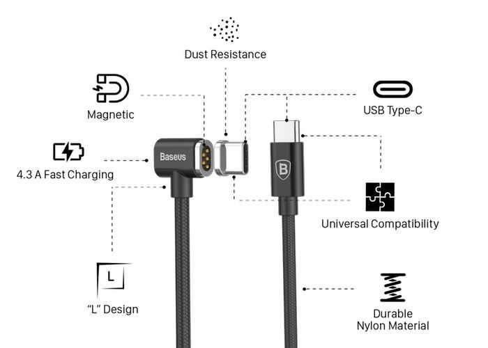 Macbook Pro Magsafe Style Magnetic Usb C Cable Video