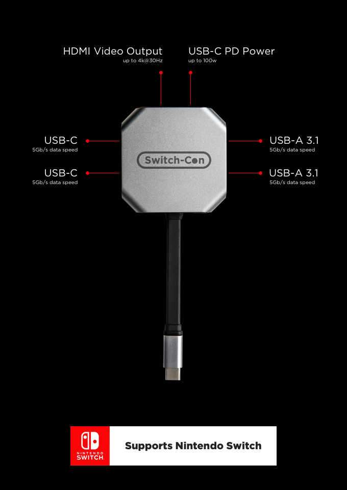 Nintendo Switch HDMI Hub