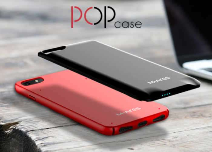 POP iPhone Case With Removable Battery Pack